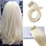 Moresoo 120g Clip In Platinum Blonde #60 Brazilian Remy Human Hair Extension(#60...