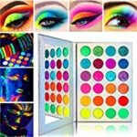 Neon Colorful Eyeshadow Palette Glitter MatteAfflano Pro UV Blacklight Luminous ...