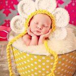 Newborn Baby Girl Photo Prop Daisy Hat
