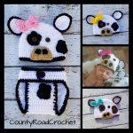 Newborn Cow Outfit Crochet Cow Photo Prop Baby Girl Cow Hat Farm Animal Photo Props Crochet Newborn