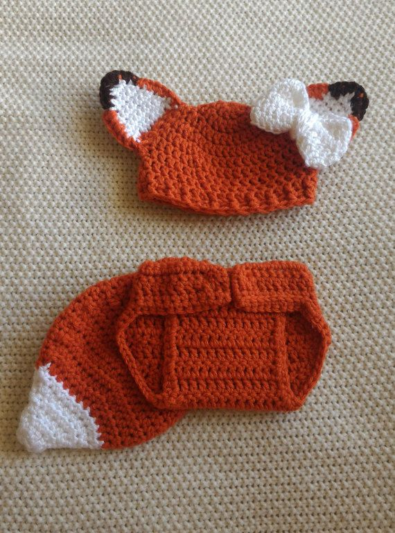Newborn Fox Outfit, Christmas, Crochet Fox, Woodland Baby, Crochet Woodland, Baby Costume, Fox Costume, Halloween Costume, Baby Shower Gift