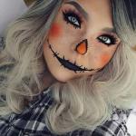 Niedliche Vogelscheuche Halloween Make-up Idee #halloween #niedliche #vogelscheu...