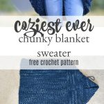 Oh my - I am SO excited to share this new crocheted blanket cardigan with you to