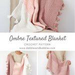 Ombre Textured Blanket Crochet Pattern