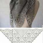 Openwork scarf with a pattern of spiders. Knitted patterns, #through ... -  #Knitted #Openwor...