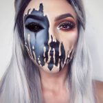 Optical illusion by make-up for Halloween and Carnival: ...- Makeover optical il...