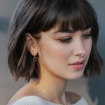 Oval Bead-set Diamond Dangle Earrings