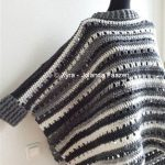 PATR1001 - Xyra Crochet-pattern - Wide straight poncho with collar and sleeves (Dutch & English-US)
