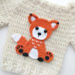 PATTERN Fox Applique Crochet Pattern PDF Woodland Animals Pattern Instant Download Accessories Motif Ornament Baby Blanket Baby Gift ENG