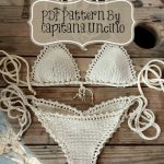 PDF, Crochet PATTERN for Capheira Crochet Bikini Top and Brazilian Bottom, With Crochet Charts, Cheeky, scrunch butt, XS-L
