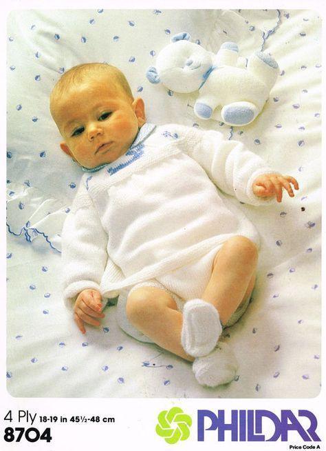 PDF Digital Download Vintage Strickmuster Baby Kleidung Angel Top Hosen Boot ……