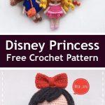 PDF Disney Princess. FREE crochet amigurumi pattern