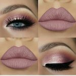 Pale pink and nude makeup #EyeMakeupPurple