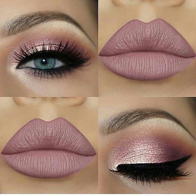Pale pink and nude makeup #EyeMakeupPurple
