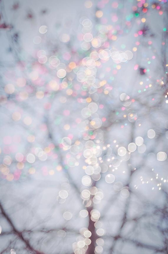 Pastel Fairy Lights Photo Set – Four Fine Art Photographs, Dreamy, Magical Home Decor, Nursery Decor, Large Wall Art
