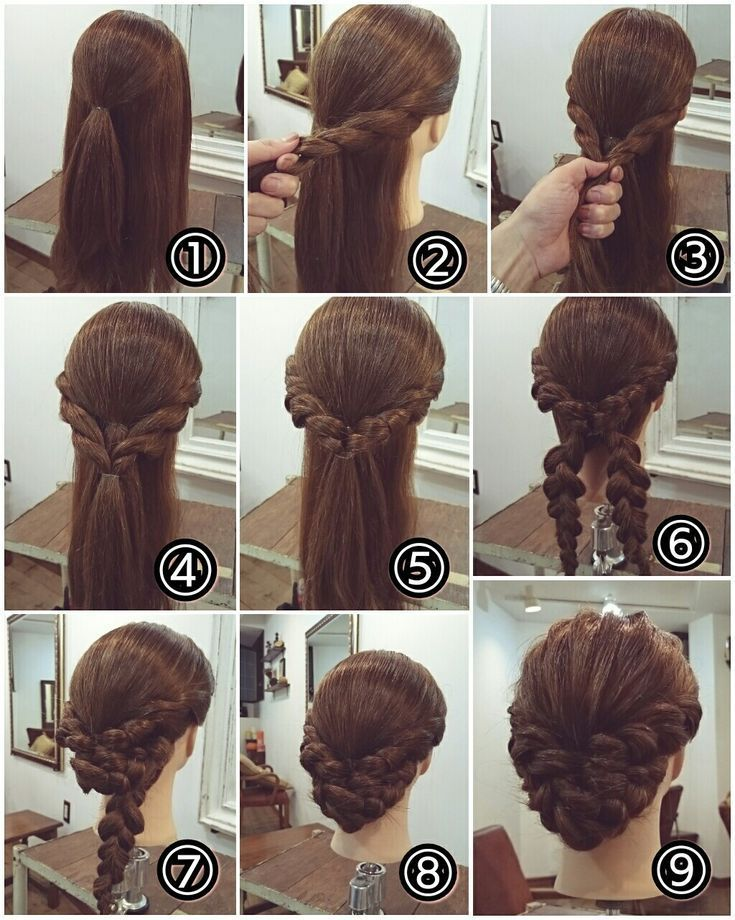Perfect hairstyle for long hair! Schmeicheld beautiful to a traditional costume …