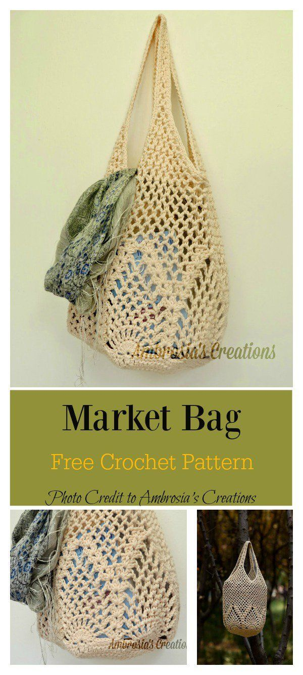 Pineapple Stitch Bag Free Crochet Pattern