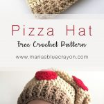 Pizza Hat - Toddler, Child, Adult Sizes - Free Crochet Pattern