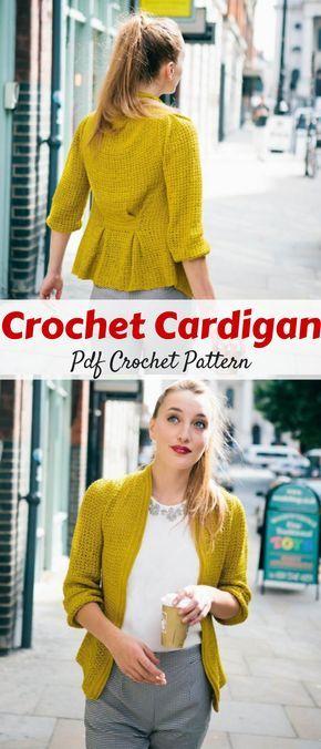 Pleated Cardigan Crochet pattern by The Crochet Project