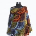 Poncho de ganchillo, Capelet multicolor, Boho Poncho Cape Cowl, Mujer Poncho, boho poncho, Poncho hecho a mano, accesorios de ganchillo, lace poncho capalet
