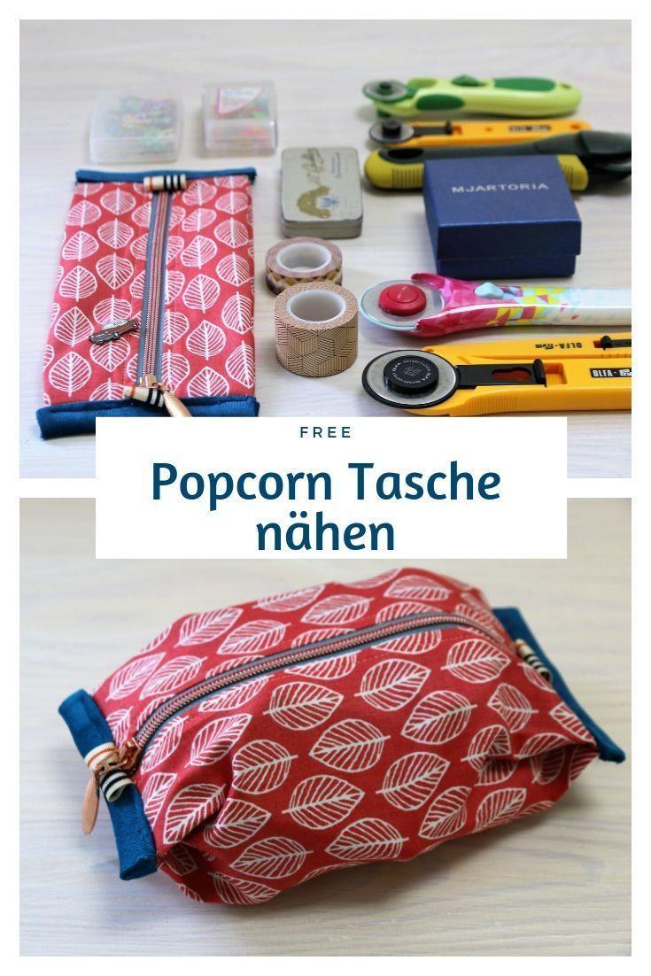 Popcorn Tasche nähen: Taschen-Anleitung mit süßem Stauraum