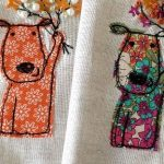 Puppy Freemotion Embroidered pictures by Helen Newton