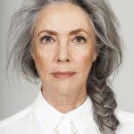 Salz und Pfeffer graue Haare. Graue Haare. Silbernes Haar. Weißes Haar. Oma Haa...