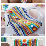 Sampler Blanket By Janine Holmes - Free Crochet Pattern With Website Registratio...