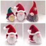 Santa Gonk Christmas Decorations Crochet pattern by Hooked on Patterns