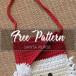 Santa Purse – Pattern Free – Easy Crochet