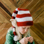 Santa's Helper Free Crochet Elf Hat Pattern (With Ears!)