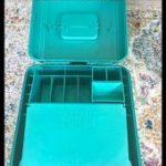 Sassaby 80er Jahre Kupfer 038 Petrol / Make Up Aufbewahrungskoffer Vintage 80er ...