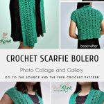 Scarfie Bolero with free Crochet Pattern