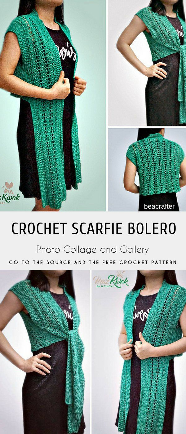 Scarfie Bolero with free Crochet Pattern