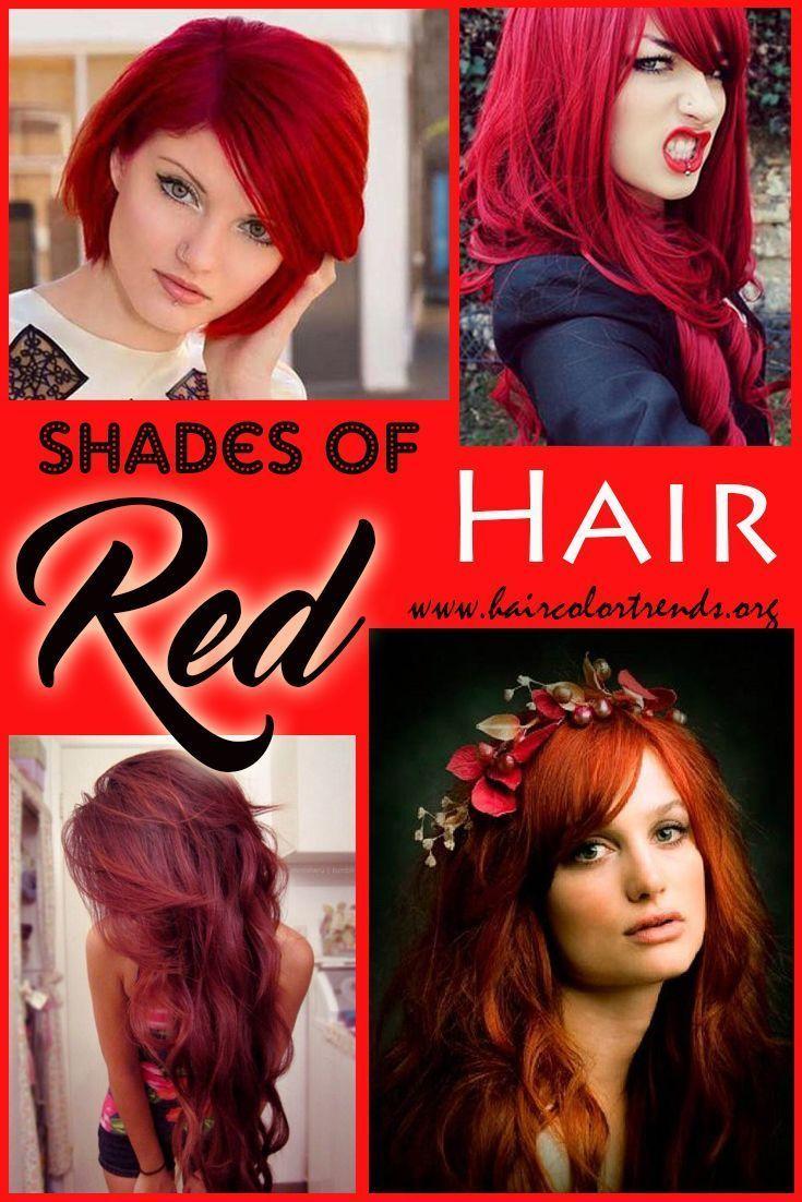 Schattierungen Von Roten Haaren