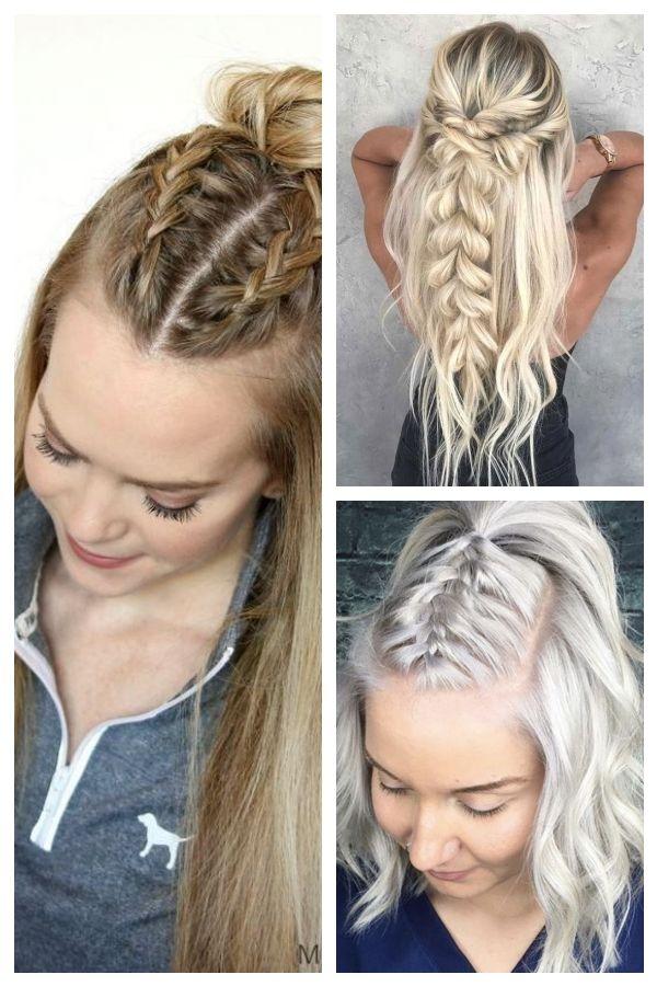 Schnelle Frisuren für langes, dichtes Haar  #dichtes #frisuren #langes #schnell…