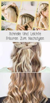 Schnelle Und Leichte Frisuren Zum Nachstylen,  #Frisuren #leichte #Nachstylen #Schnelle #und …