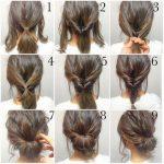 Schnelle einfache formale Frisuren