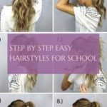 Schritt für Schritt leichte Frisuren für die Schule; einfache frisuren schritt für schritt .....