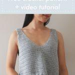 Sea Breeze Tank Top - free crochet pattern + video tutorial - for the frills