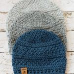 Seed Stitch Beanie Crochet Hat Pattern