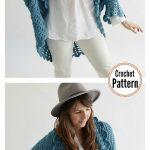 Shell Edged Blanket Sweater Crochet Pattern #blanketsweater Shell Edged Blanket ...
