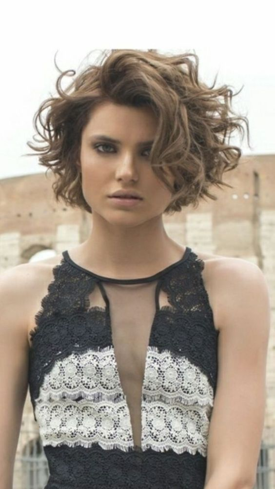 Short and Long Layered Curly Hairstyles