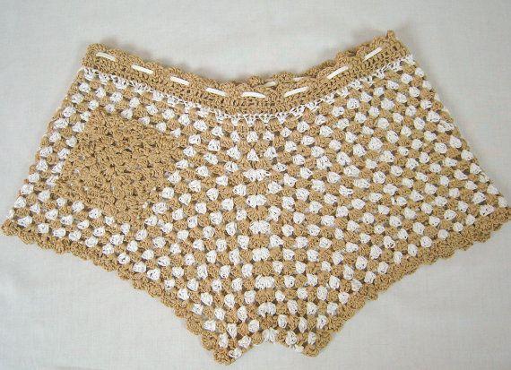 Shorts de verano de crochet, crochet el cortocircuitos de la playa, cortocircuitos de la playa de las mujeres, crochet sexy shorts, ropa de playa, shorts de verano de algodón, pantalones cortos de fiesta
