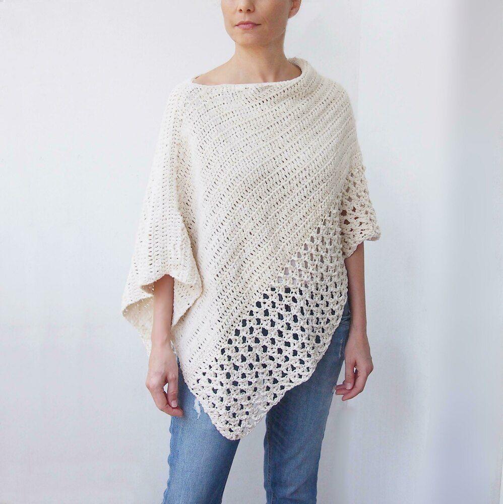 Silver drop poncho Crochet pattern by Ana D