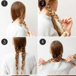 Simple Hairstyles for work for medium or Lengthy hair – Facile Coiffures pour le trav