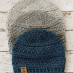Simple Seed Stitch Beanie Crochet pattern by Kirsten Holloway