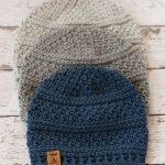 Simple Seed Stitch Beanie pattern by Kirsten Holloway