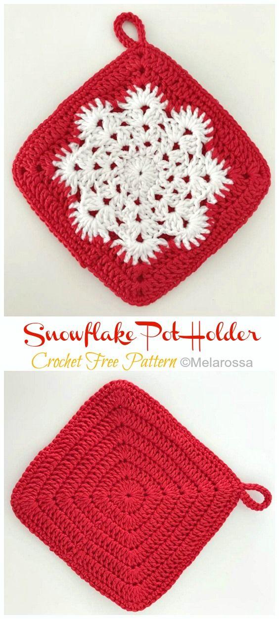Snowflake Pot Holder Crochet Free Pattern [Video]