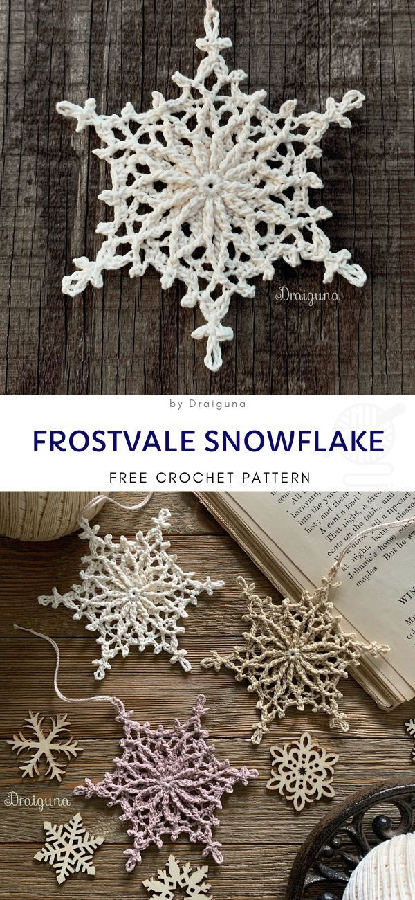 Snowflakes Crochet Decorations for Winter